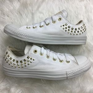 Converse Gold Studded Low Top Authentic Size 8